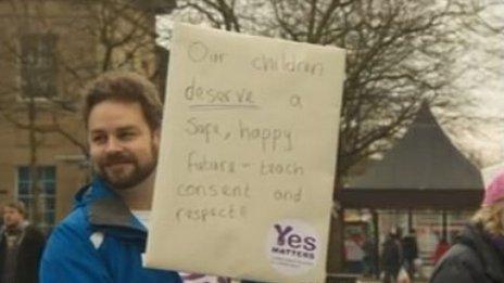Protester in Victoria Square, Bolton