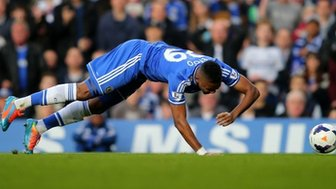 Samuel Eto'o goes down injured