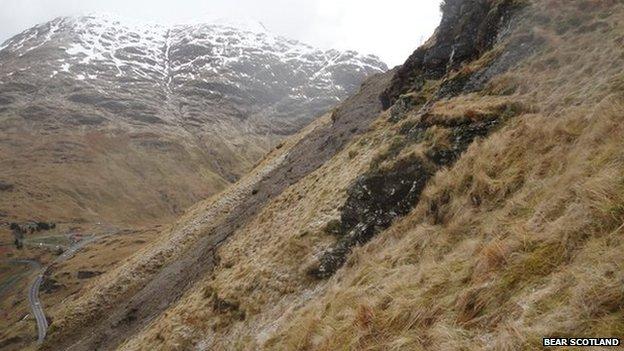A83 landslide