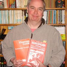 Tim Kaye with his timetables