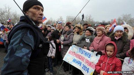 Pro-Russia Sevastopol protest