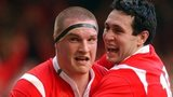 Gethin Jenkins and Stephen Jones in 2005