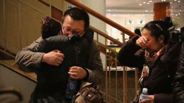 Relatives of a passenger on board Malaysia Airlines flight MH370
