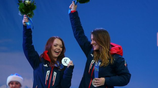 Jade Etherington and guide Caroline Powell