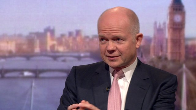 William Hague on Russia's 'miscalculation'