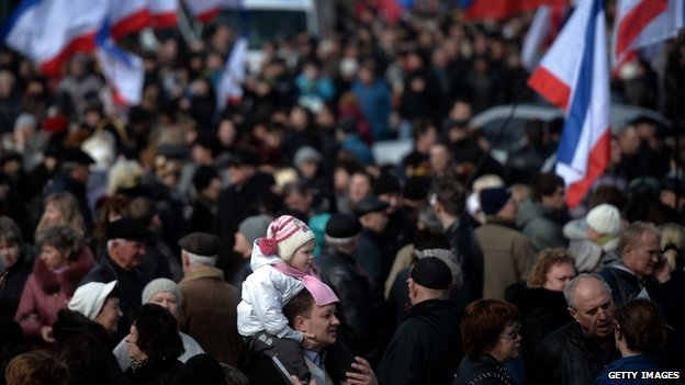 Pro-Russian rally in Simferopol's Lenin Square