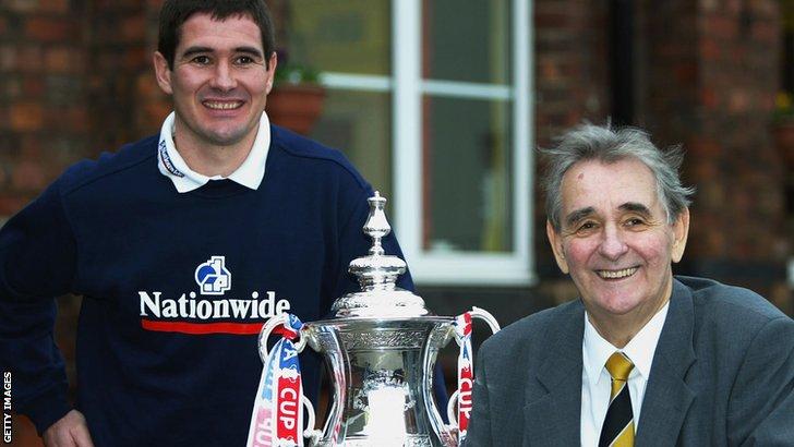 Nigel Clough and Brian Clough