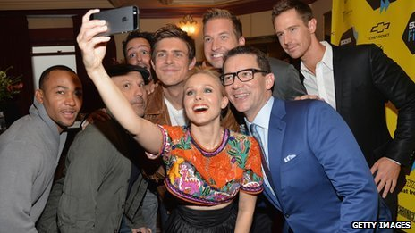 Cast and director of Veronica Mars at Texas premiere