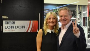 Gaby Roslin and Jerry Springer