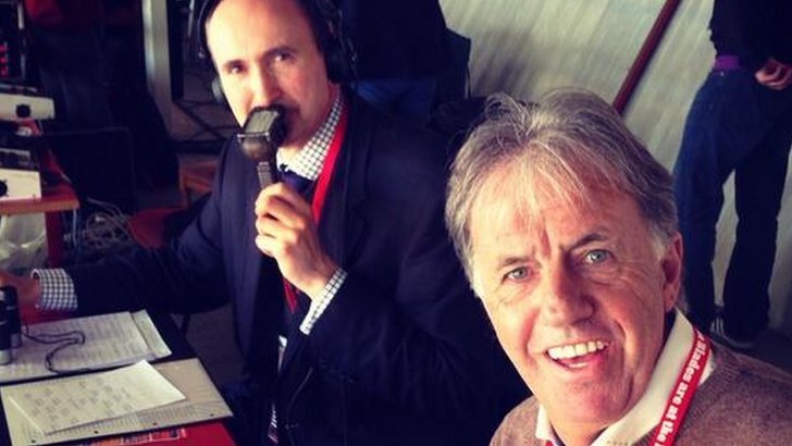Mark Lawrenson and John Murray at Bramall Lane