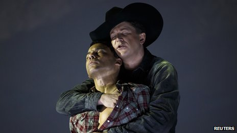 A performance of the operatic Brokeback Mountain