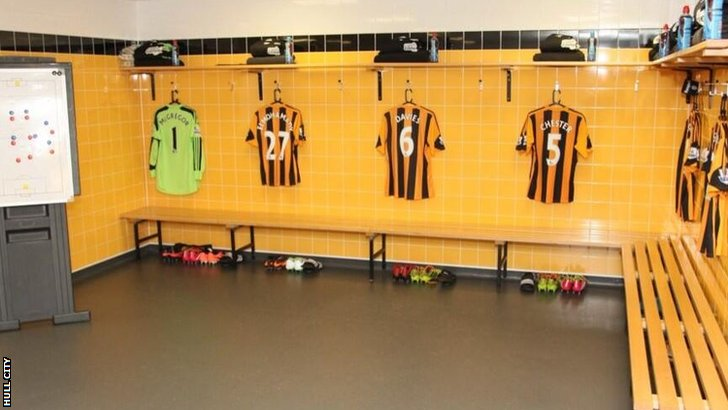 Hull City changing room