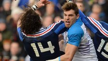 Scotland's Sean Lamont (centre) in action against France