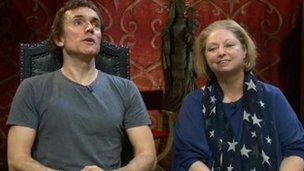 Actor Ben Miles and author Hilary Mantel