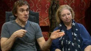Ben Miles and Hilary Mantel