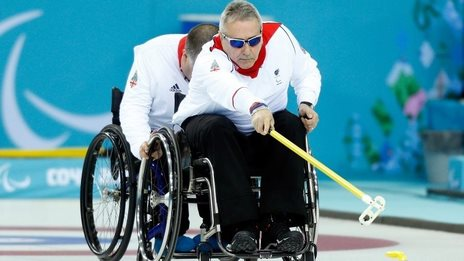 GB curler Jim Gault delivers a stone