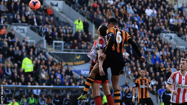 Curtis Davies scores for Hull City