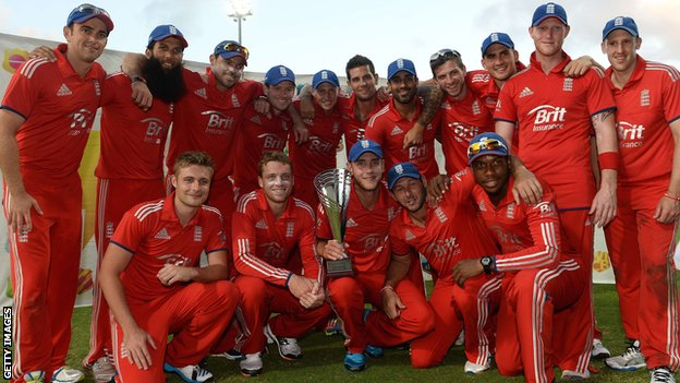 England's victorious one-day squad