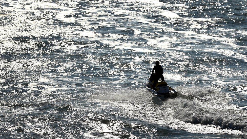 A jet-skier in Brighton