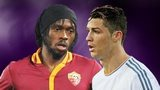Gervinho and Cristiano Ronaldo
