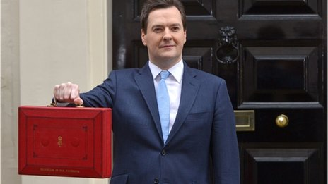 Chancellor George Osborne on Budget day 2013
