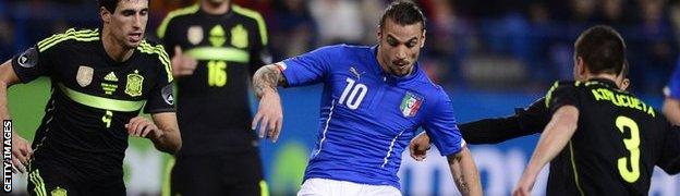 Italy's Dani Osvaldo