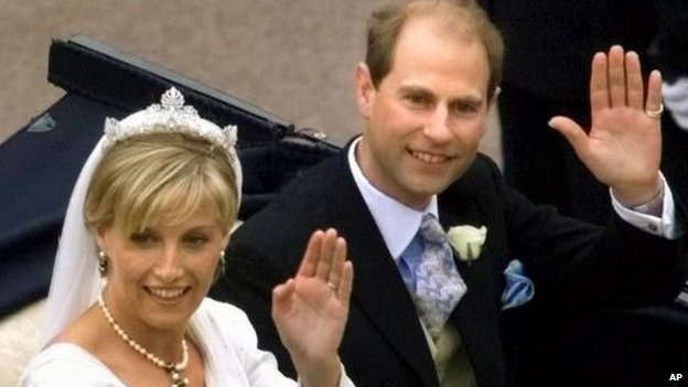 Sophie Rhys-Jones and Prince Edward