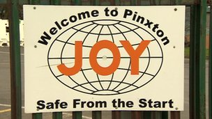 Joy Mining Machinery sign