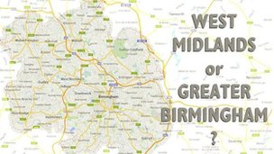West Midlands or Great Birmingham graphic