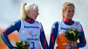 Kelly Gallagher and guide Charlotte Evans