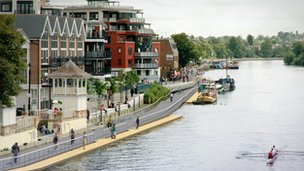 Projected image of the Kingston boardwalk