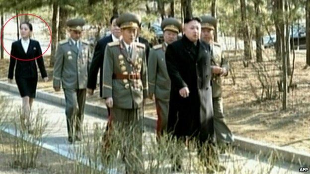 Kim Jong-un goes to cast a ballot, accompanied by senior officials including his younger sister, Kim Yo-jong