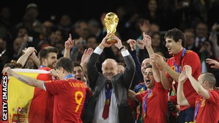 Spain win 2010 World Cup