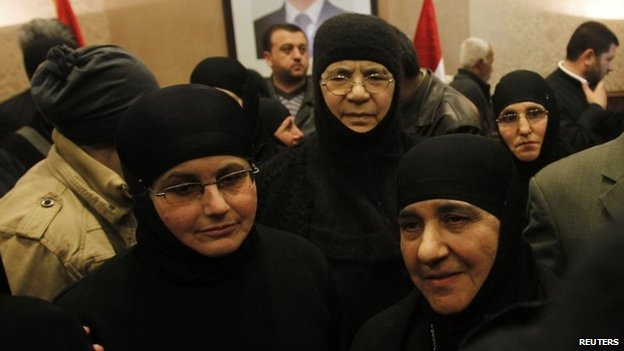 Released Greek Orthodox nuns (10 March 2014)