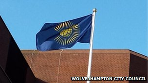 Wolverhampton City Council flying the Commonwealth Flag to mark Commonwealth Day today.