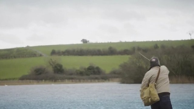 Fisherman in tourism advert