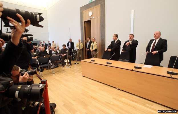 Uli Hoeness in court (10 March 2014)