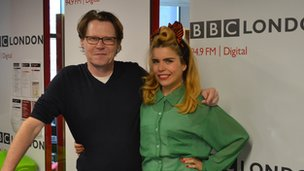 Robert Elms and Paloma Faith