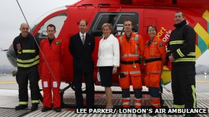 Earl and Countess of Wessex and London's Air ambulance
