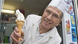 Paul Salamone, world's longest serving ice cream man