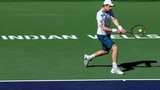 Andy Murray in action in Indian Wells