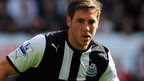 Newcastle midfielder Dan Gosling
