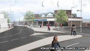 Proposed Kingston Station layout