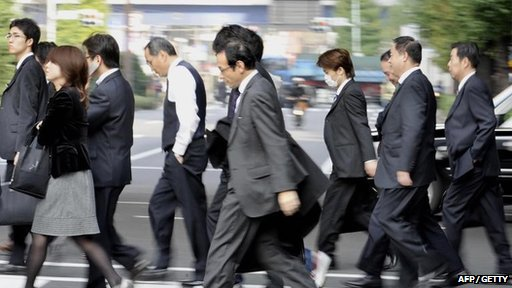 Japanese business people