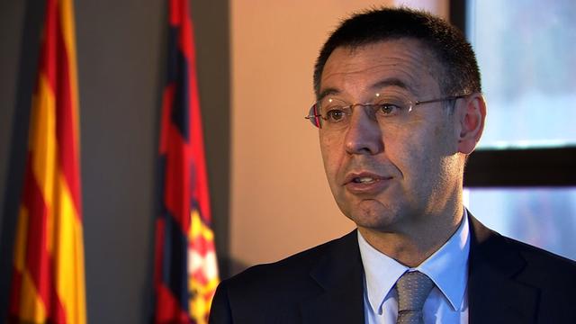 FC Barcelona club president Josep Maria Bartomeu