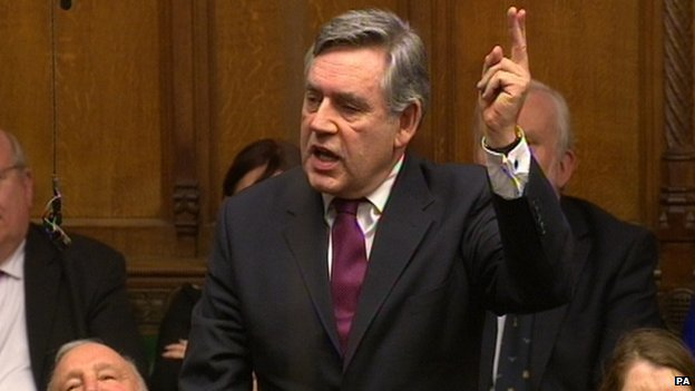 Gordon Brown in Parliament 2013