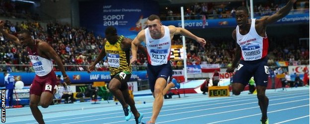 Kilty, a late call up for the injured James Dasaolu, won gold in his first major international championships