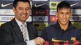 Josep Maria Bartomeu and Neymar