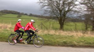 Harry Gration and Amy Garcia on last training ride for Sport Relief challenge