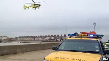 Crews searching for people in sea of Lowestoft
